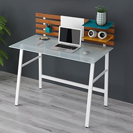 home office computer workstation. ctf leroy computer desk writing home office workstation white glass top \u0026 steel n
