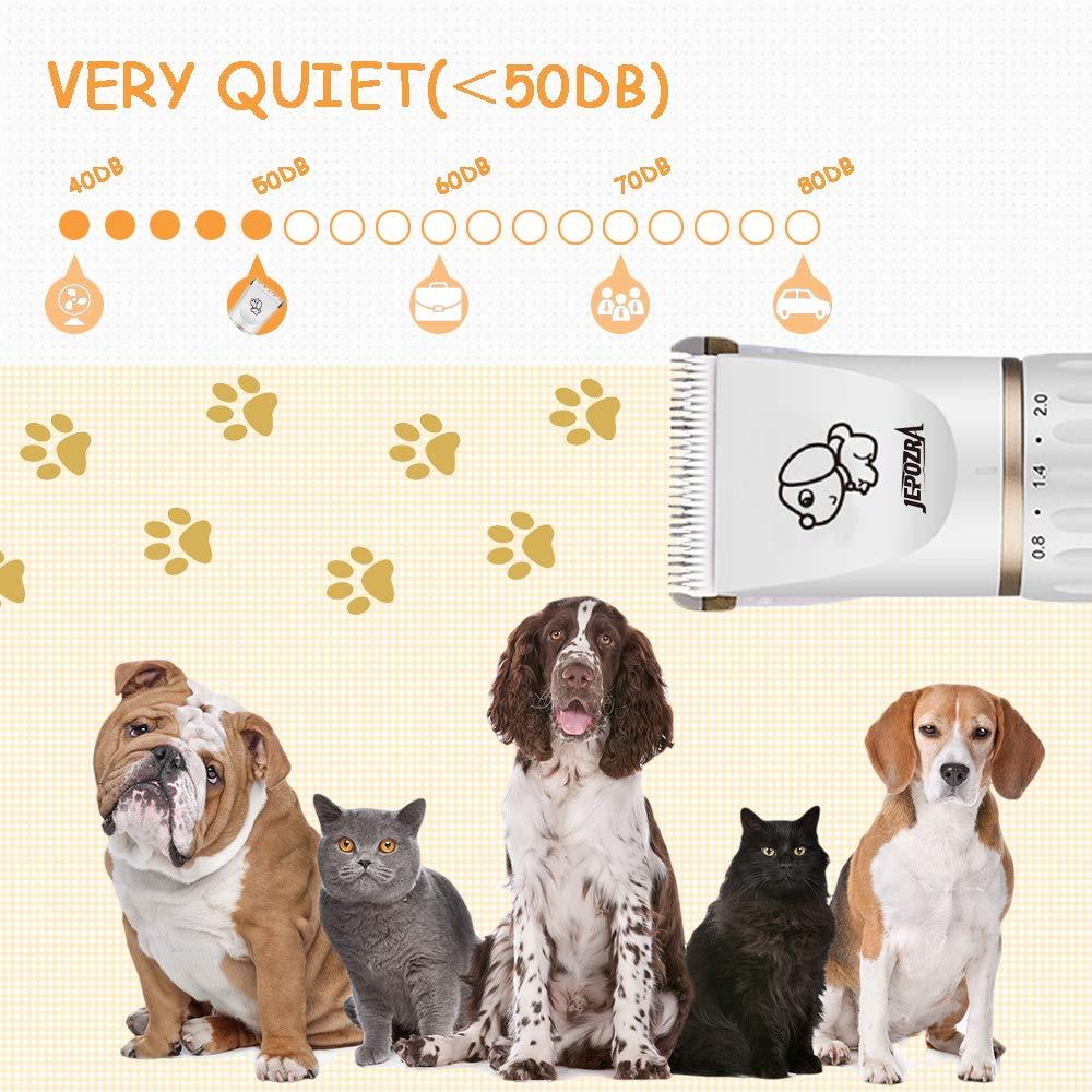 Bajo Ruido y Vibraci/ón M/áquina de Cortar Pelo Inalambrica Profesional con 4 Peine Ajustable para Pelo Rizado mtaioz Cortapelos para Perro y Gato Cortapelos para Mascotas Ondulado.