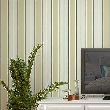 GAOJIAN Vertikale Gestreifte Grüne Non Woven Wandtattoos Moderne  Schlafzimmer Wohnzimmer TV Hintergrund Wand Papier Breite