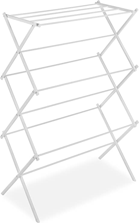 Whitmor Metal Folding Clothes Drying Rack (White) Drying Racks at amazon