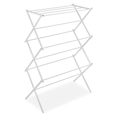 Whitmor Foldable Drying Rack, White