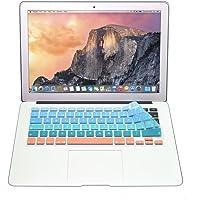Protector Skin de Teclado para Macbook en Español compatible con: Macbook/Pro 13''/Pro 15''/Pro Retina 13''/Pro Retina 15''/Air 13'', Models: A1278/A1286/A1502/A1425/A1398/A1369/A1466 AZUL-NARANJA