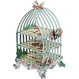 Jannyshop - Soporte de 3 capas para tartas de pájaros de cartón, soporte para cupcakes