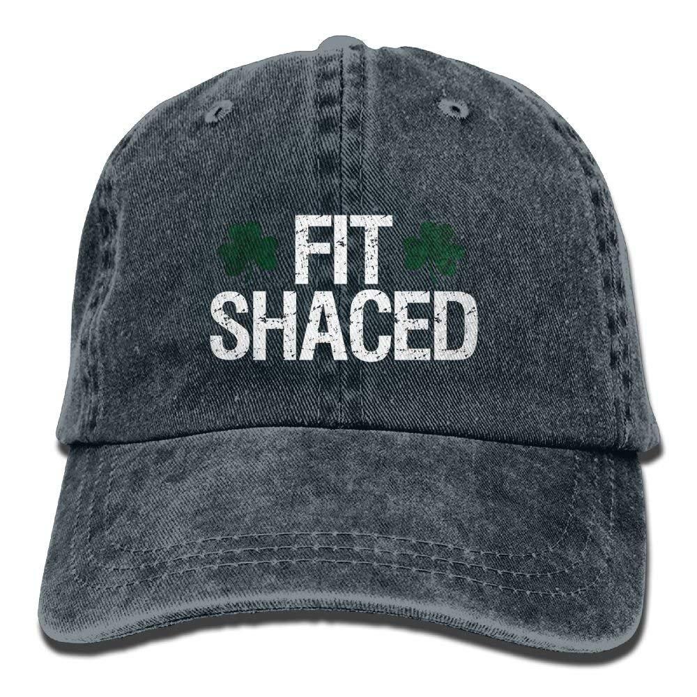 JTRVW Fit Shaced Shamrock Men Women Cowboy Hats Vintage Denim Trucker Baseball Caps