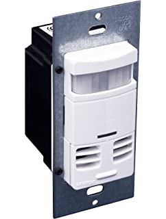 Leviton OSSMT-GDW Ultrasonic/Infrared, Multi-Technology Wall Switch Sensor, No