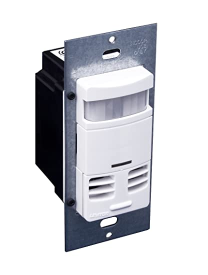 Leviton OSSMT-GDW Ultrasonic/Infrared, Multi-Technology Wall Switch Sensor,  No Neutral, 2400 sq  ft  Major & 400 sq  ft  Minor Motion Coverage, White