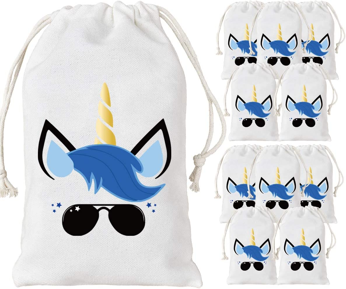 Unicorn Party Favor Bags for 12 Guests Page Two