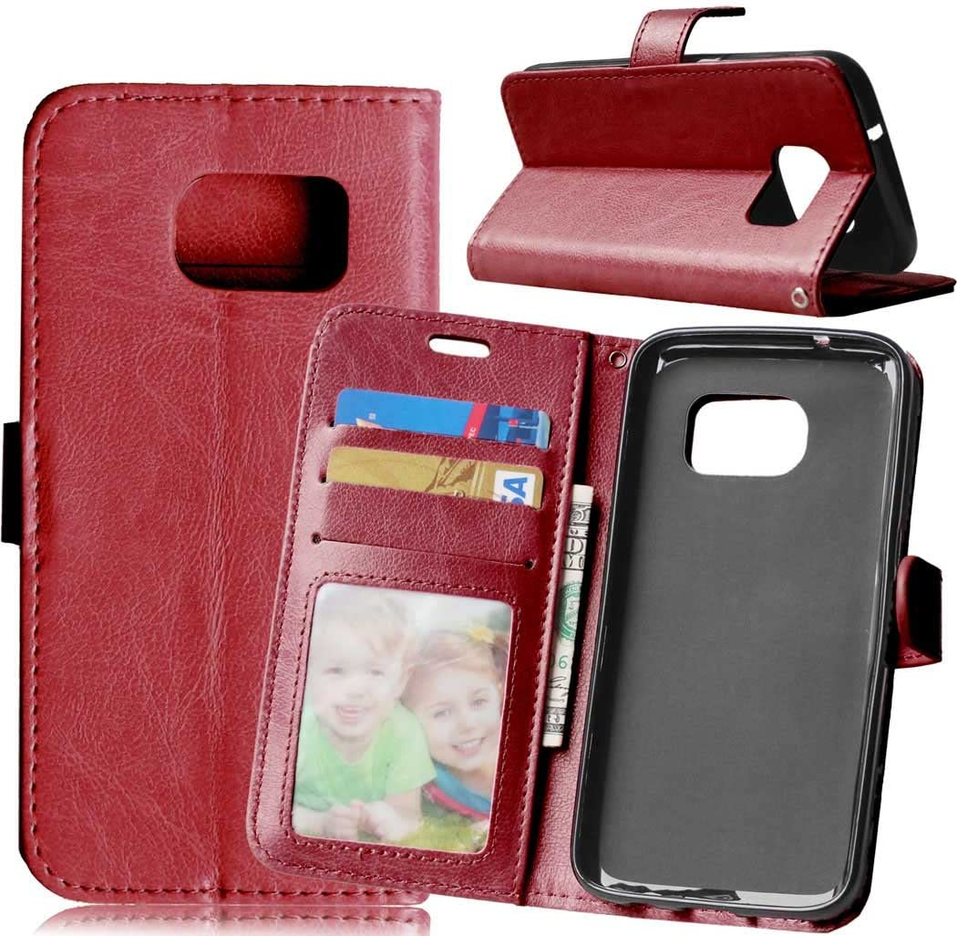 Black FQY Wallet,Card Slot,Stand,Photo Frame Case for Samsung Galaxy S7 5.1 and 5.1 Samsung Galaxy S7 TPU case, Pu Leather