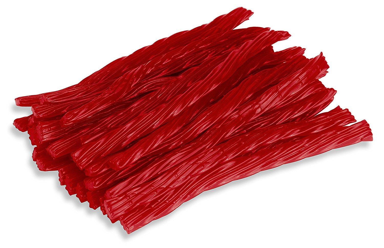 Happy Candy Red Raspberry Licorice Twists - Certified Kosher - 1 Pound Bag (16 oz)