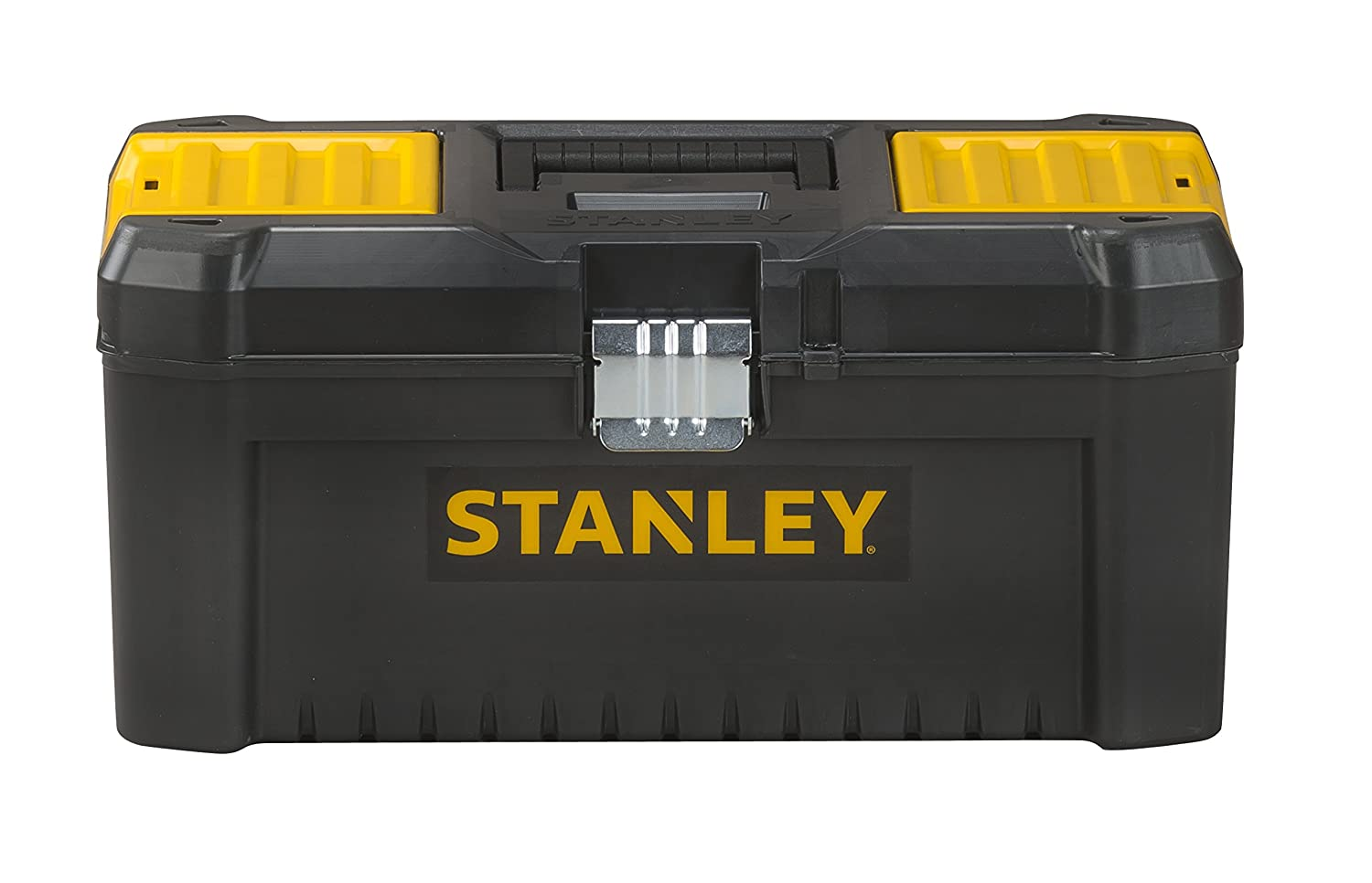 Stanley STST1-75518 Essential 16 Toolbox with Metal latches, Black/Yellow, Inch