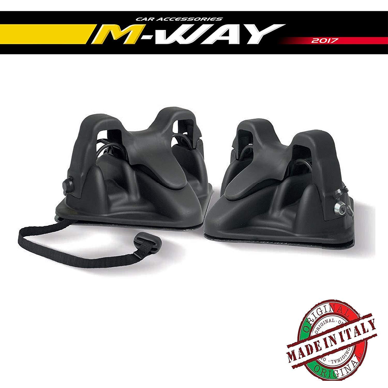 X-One/X.One Porta Sci per Auto Citroen C4 Magnetico Sabre Prodotto Certificato OMOLOGATO Produzione Made in Italy M-WAY MENABO PORTASCISABRE