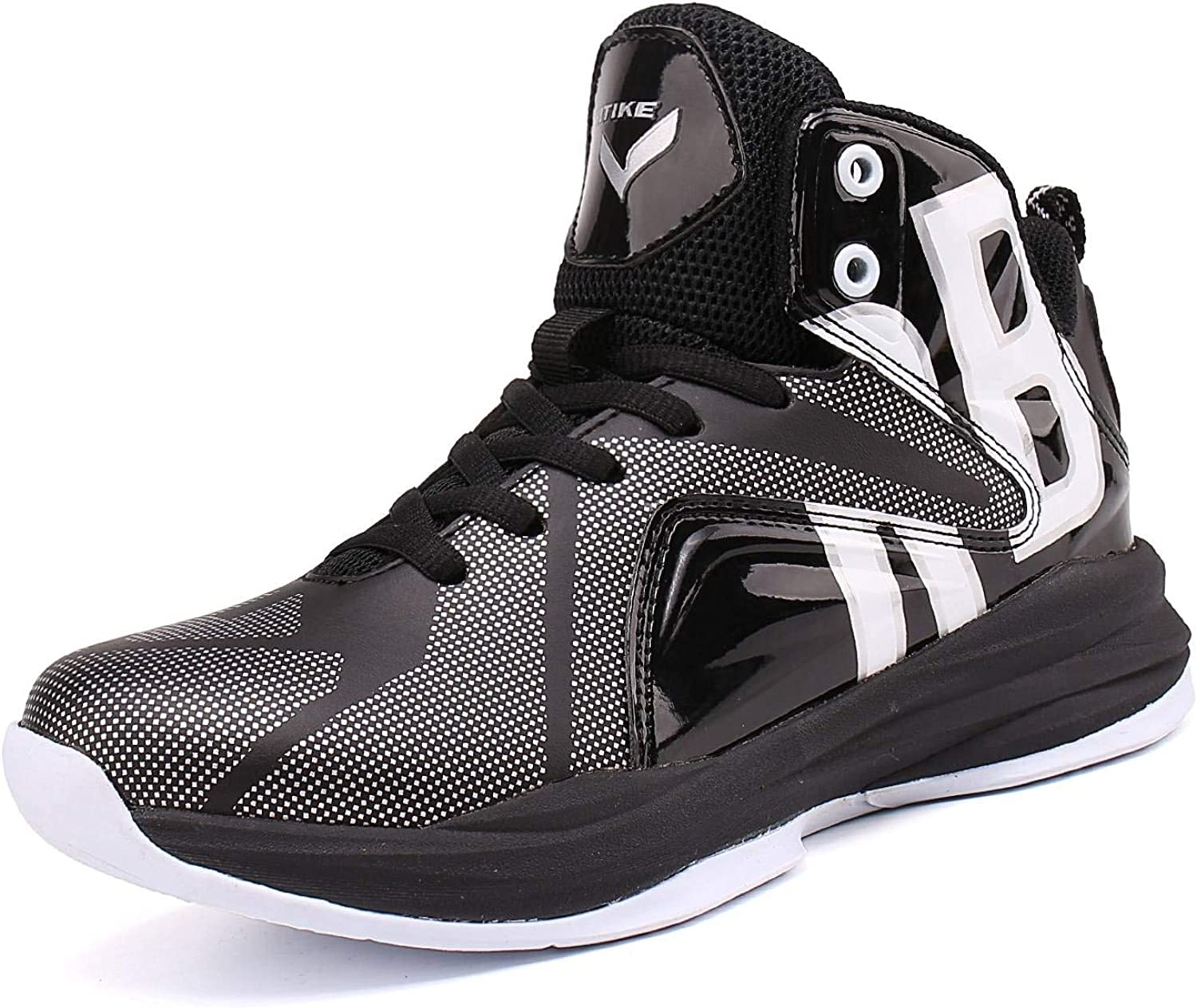 JMFCHI Kids Basketball Shoes High-top Sports Shoes Sneakers Durable Lace-up Non-Slip Running Shoes Secure for Little Kids Big Kids and Boys Girls