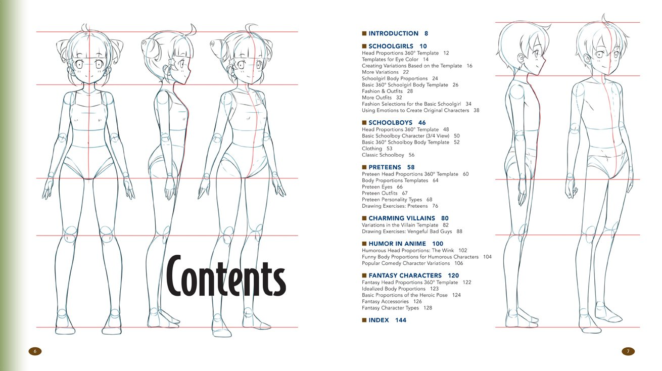 manga character template - outfit drawing template