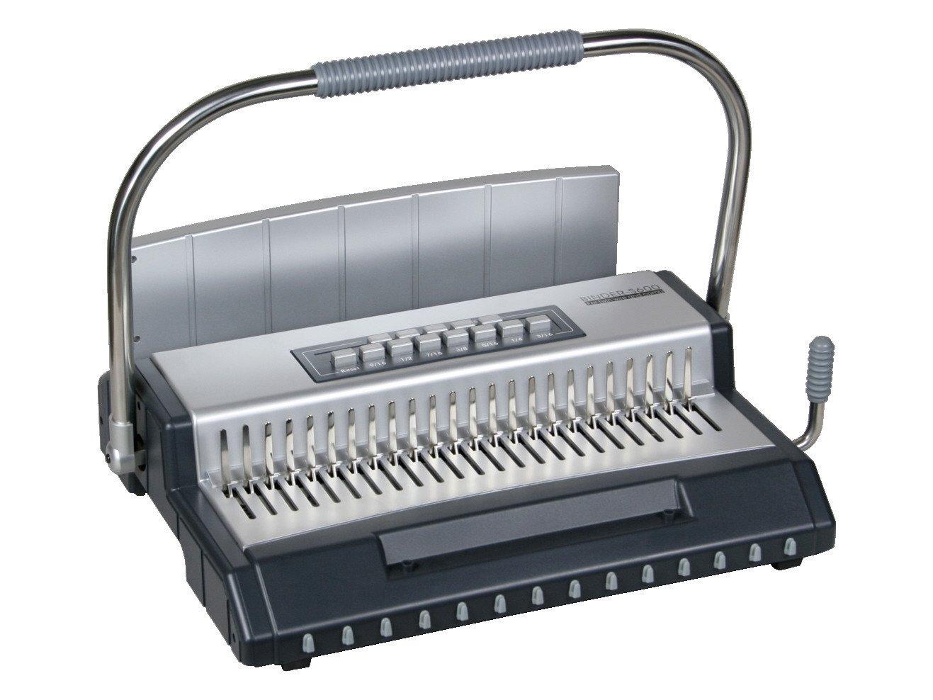 Kombiniertes Schließgerät S600, manuell, für Draht- und Plastikbinderücken r&b Laminiersysteme