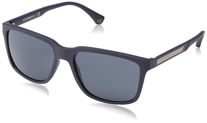 Emporio Armani Armani Unisex Sonnenbrille EA4047, Gr. Medium (Herstellergröße: 56), Grau (grey rubber 52116Q)