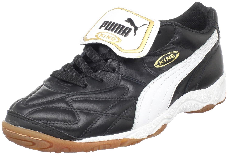 Puma キングインドア IT サッカーシューズ メンズ B00021FLTWブラック/ホワイト/ゴールド 7