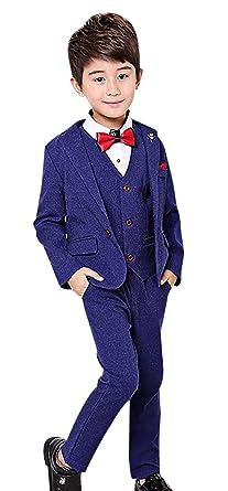 80068153f Amazon.com  Boy s Tuxedo Suit Set 3 Pcs Formal Lapel Dress Formal ...