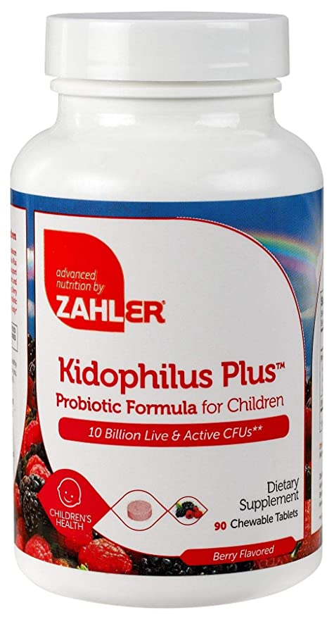 Zahler Kidophilus Plus, Chewable Kids Probiotics, All Natural Great Tasting Acidophilus for Children,