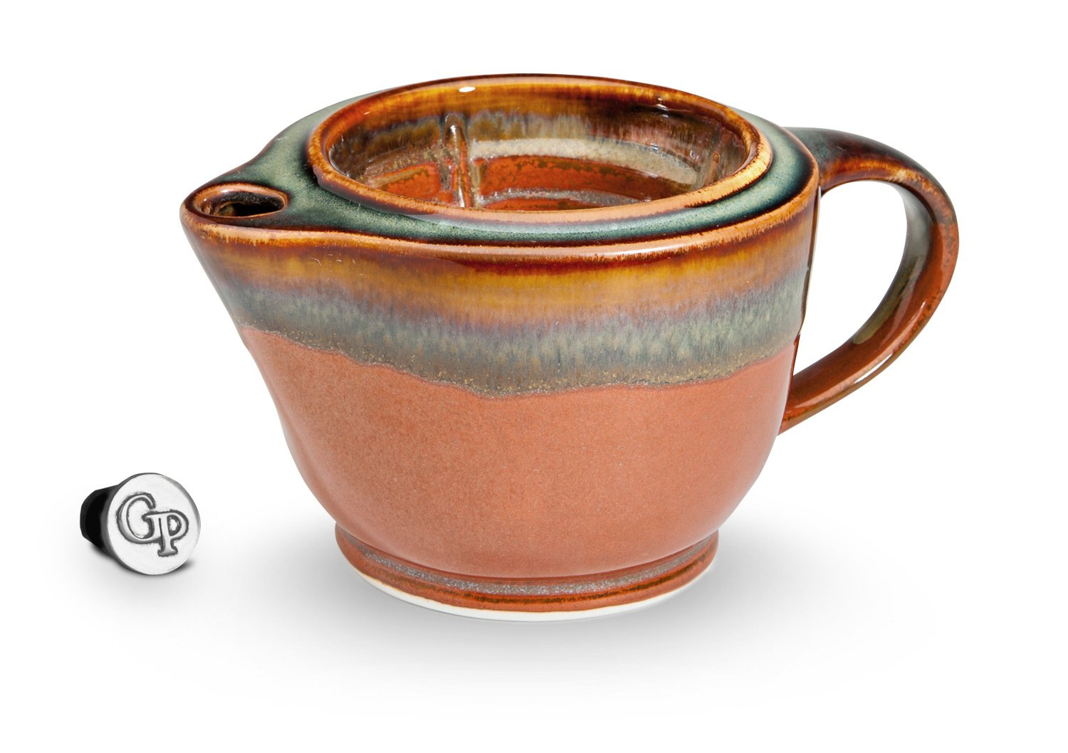 Georgetown Pottery G20 Shaving Scuttle Mug - Hamada & Persimmon by Georgetown Pottery