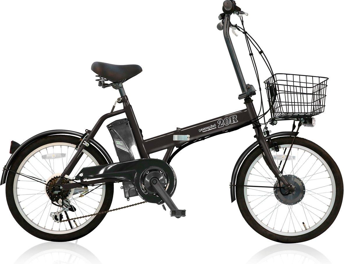 電動自転車 20インチ カゴ付き 折りたたみ パスピエ20R 軽量リチウム5Ahバッテリー シマノ外装6段ギア サンヨーLEDライト 電動アシスト自転車 Passepied 20R (型式認定車両/TS/ B07CMLTM3Gブラック