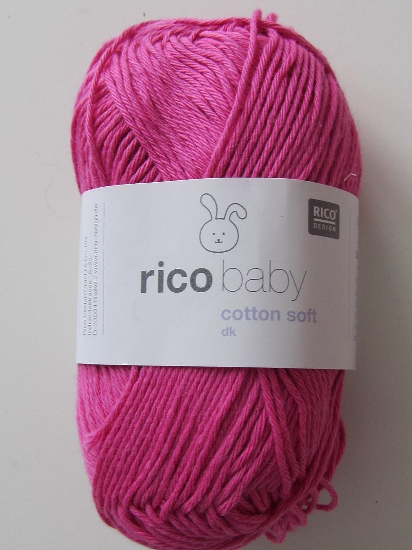 009 Mittelgrau Rico Design Acryl Soft 50g Wolle Fb