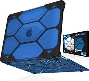 IBENZER Hexpact MacBook Air 13 Inch Case 2020 2019 2018 Release New Version M1 A2337 A2179, Heavy Duty Protective Case for Apple Mac Air 13 Retina with Touch ID, Blue, HAT13-BL