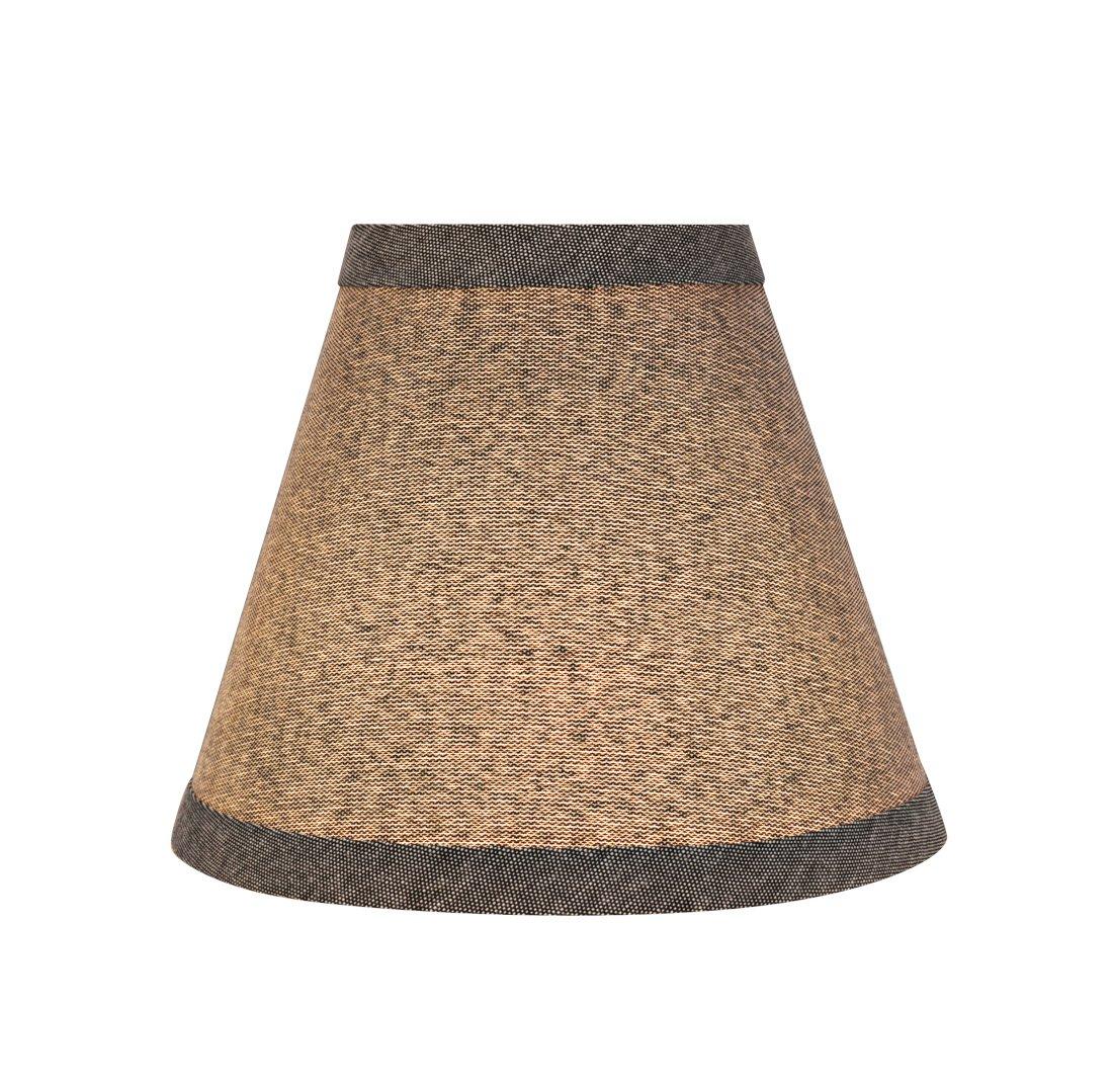 Clip ON LAMP Shade 3 x 6 x 5 5 Pack Transitional Design in Grey 6 Bottom Width Aspen Creative 32122-5 Small Hardback Empire Shape Chandelier Set