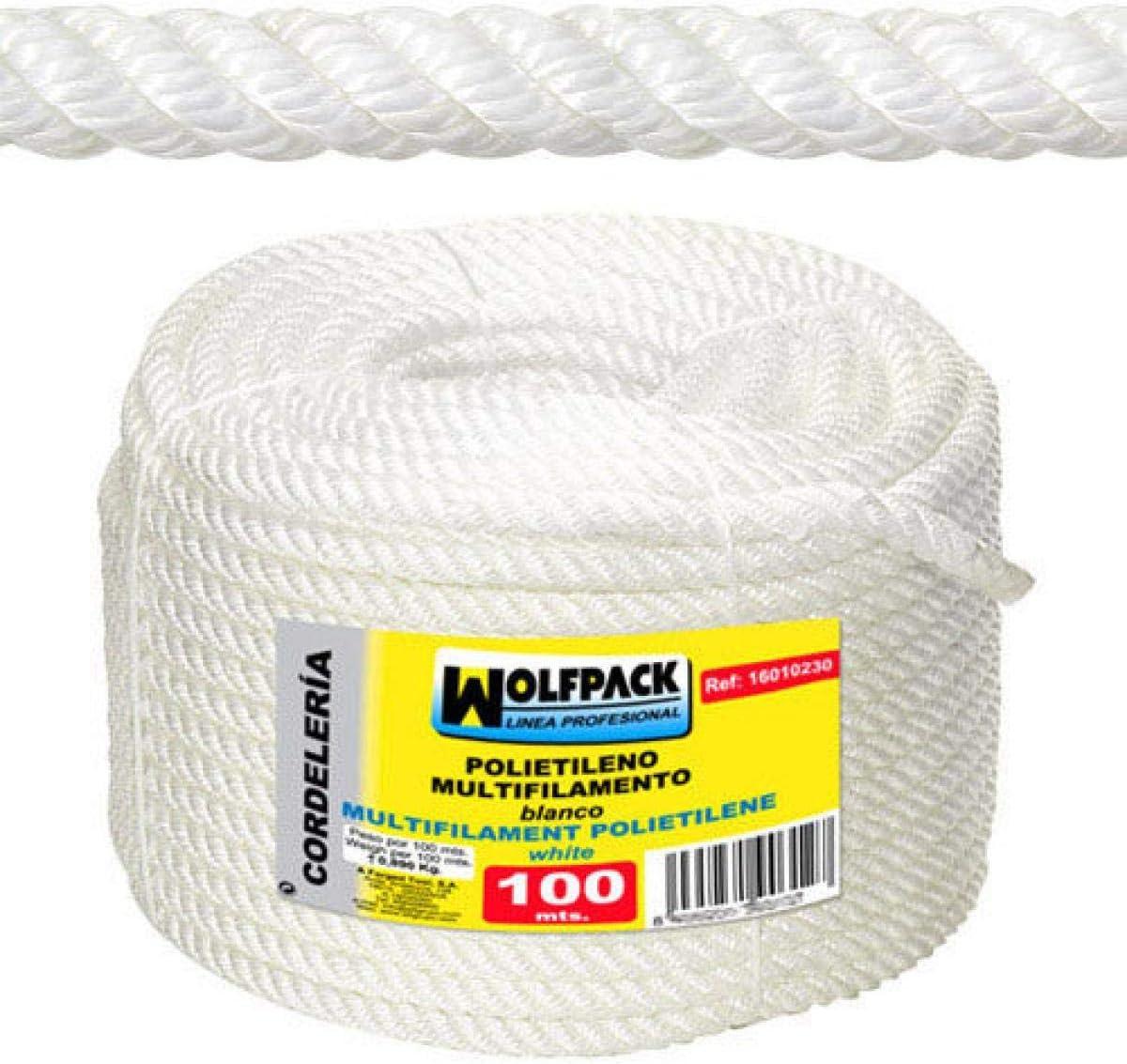 12/mm Wolfpack 16010220/Rope Polypropylene Multifilament Roll 100/MT