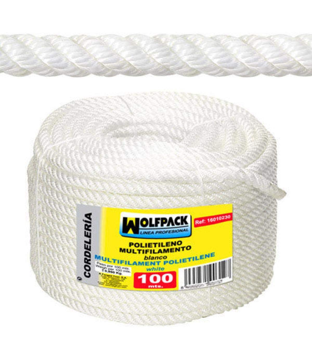 polipropileno, 100 m x 6 mm Wolfpack 16010205 Rollo cuerda multifilamento