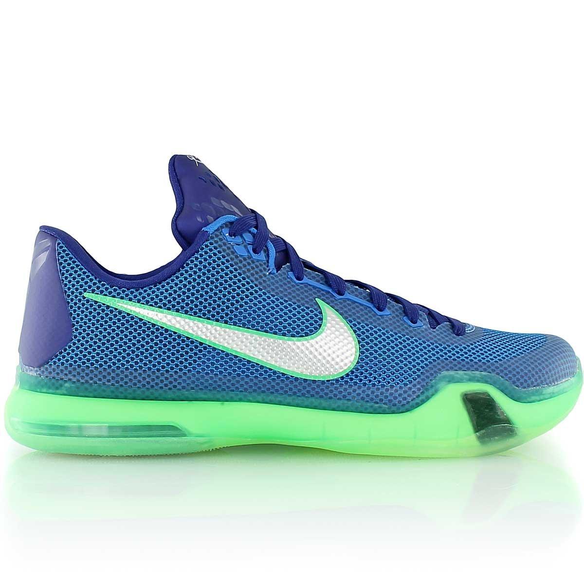 low priced 61944 18af8 Galleon - Nike Mens Kobe X, SOAR  METALLIC SILVER-DEEP ROYAL BLUE-GREEN  SHOCK, 10 M US