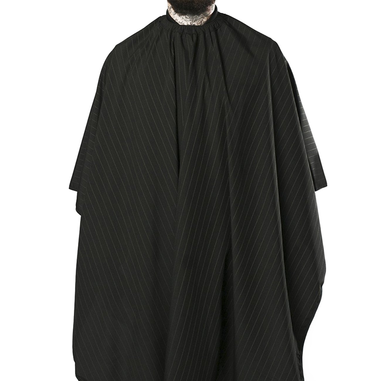 Barber Strong Cape, Black/White Stripe