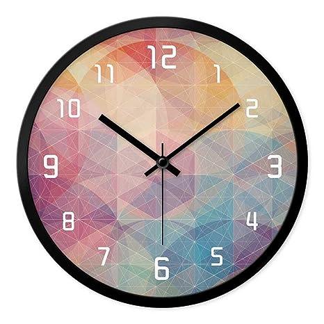 JJD Relojes Personalizados Y Elegante Reloj De Pared De Salón Dormitorio Moderno Creativo Silenciar Grandes Relojes