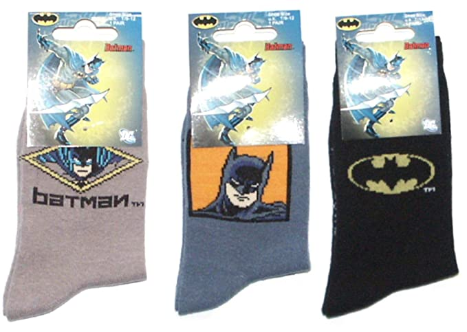 Pack de 3 pares de Calcetines de Batman T/6-8: Amazon.es: Ropa y accesorios