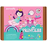 Princess Themed Art and Craft Kit for Girls | 3 Activities-in-1 | Best Girl Gift for Ages 4 to 8 Years | Includes Beautiful Felt and Foam Embellishments (Princess 3-in-1)