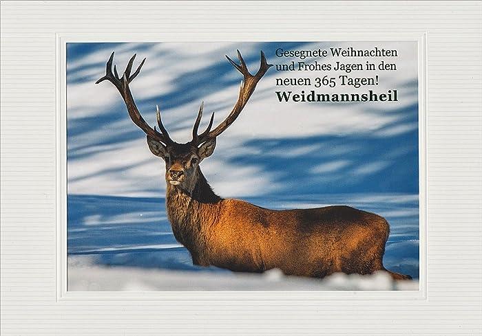 Weihnachtsgrüße Jagdlich.Jagdliche Weihnachtskarte Textkarte Mit Motiv Von Handmadegruss