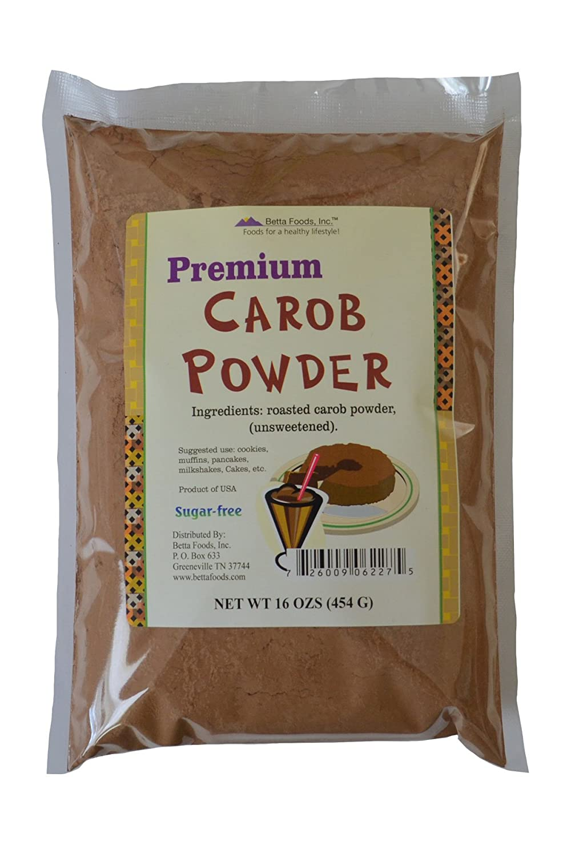 Betta Alimentos Premium algarroba en polvo, 16-Ounce Bolsa