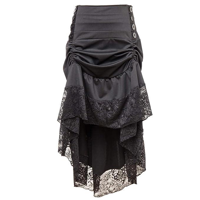 Amazon.com: Steampunk - Falda de encaje para mujer, estilo ...