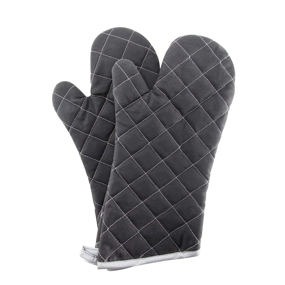 Oven Mitts Flame Retardant Mitts Heat Resistant to 425° F 15 Inch Black Color 2-pack