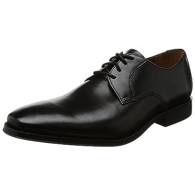 Clarks Gilman Lace - Black Leather Mens Shoes