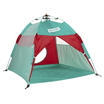 Lightspeed Outdoors Kids Fort Pop-Up Play Tent with Tunnel Entrance Aqua u0026 Red  sc 1 st  Amazon.com & Amazon.com: Lightspeed Outdoors Kids Fort Pop-Up Play Tent with ...
