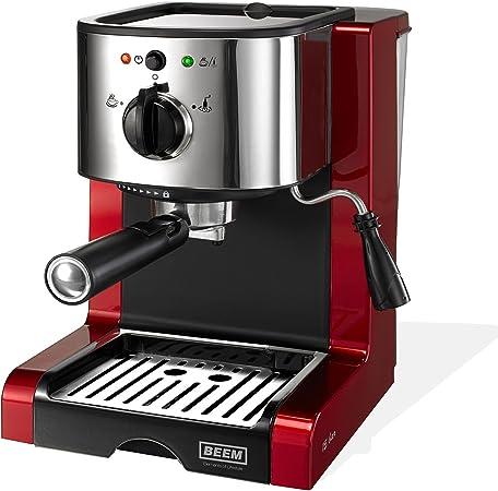 brillantrot 15bar 1350W Pads BEEM Espresso Perfect Espressomaschine für Pulver