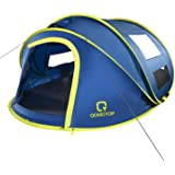 OT QOMOTOP 10 Seconds Set-up 4 Person Pop up Tent, Instant Automatic Tent with 4 Ventilated Mesh Windows and 2 Doors…