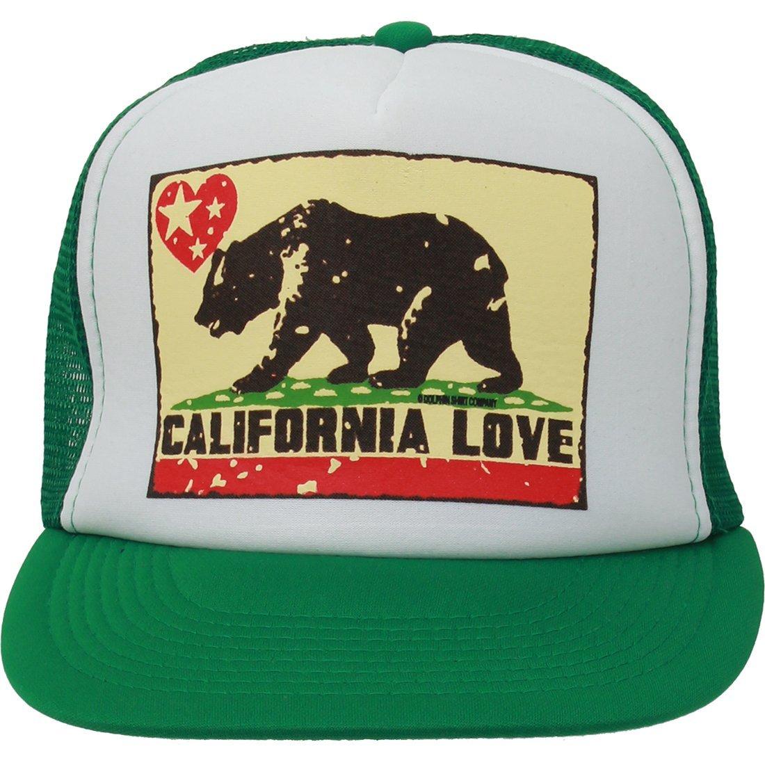 California Love Flag Flat Bill Snapback Mesh Truckers Cap - Black White One  Size Fits Most at Amazon Women s Clothing store  0940b34b078