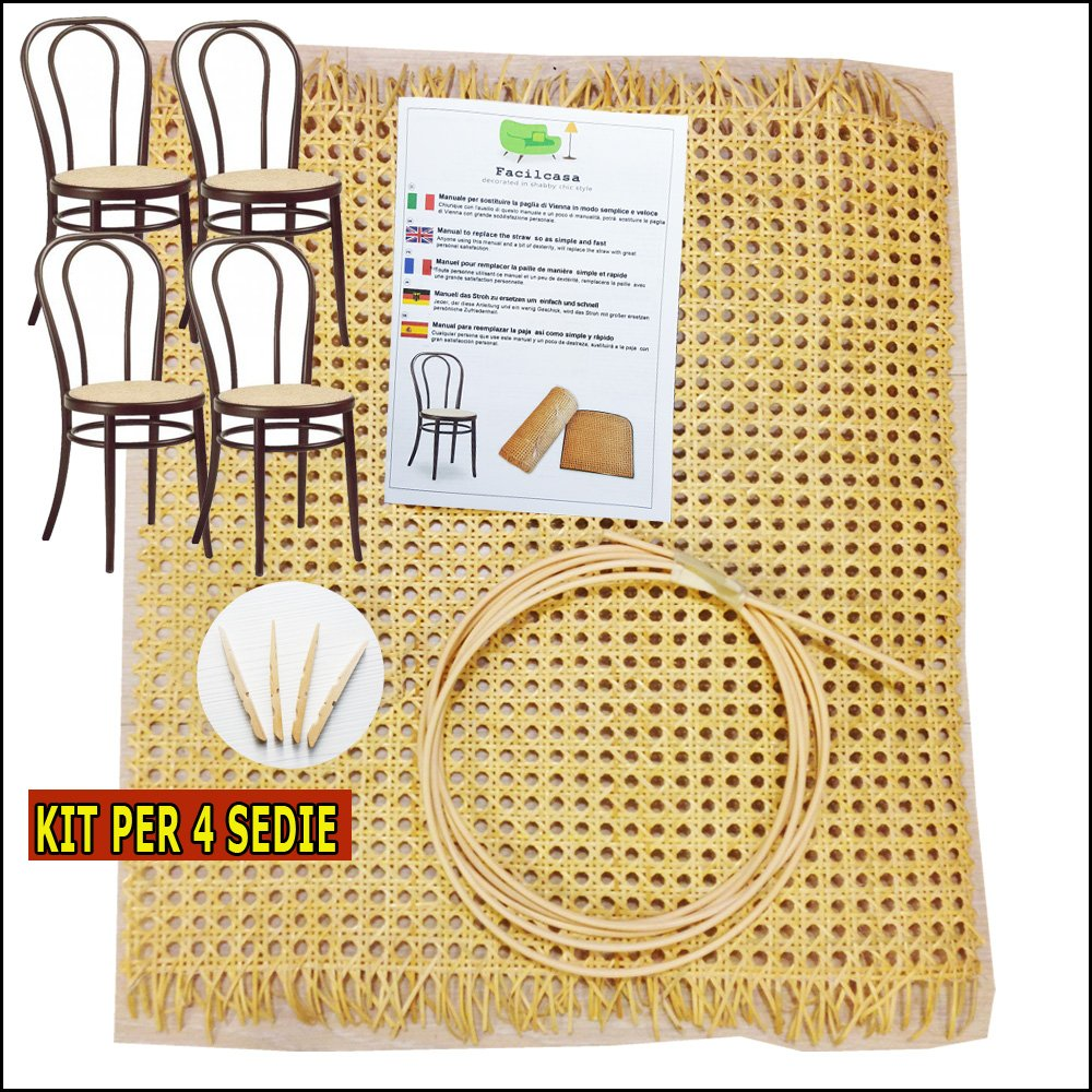 4x Repair and Replacement Kits for cane webbing Seats countryfacile