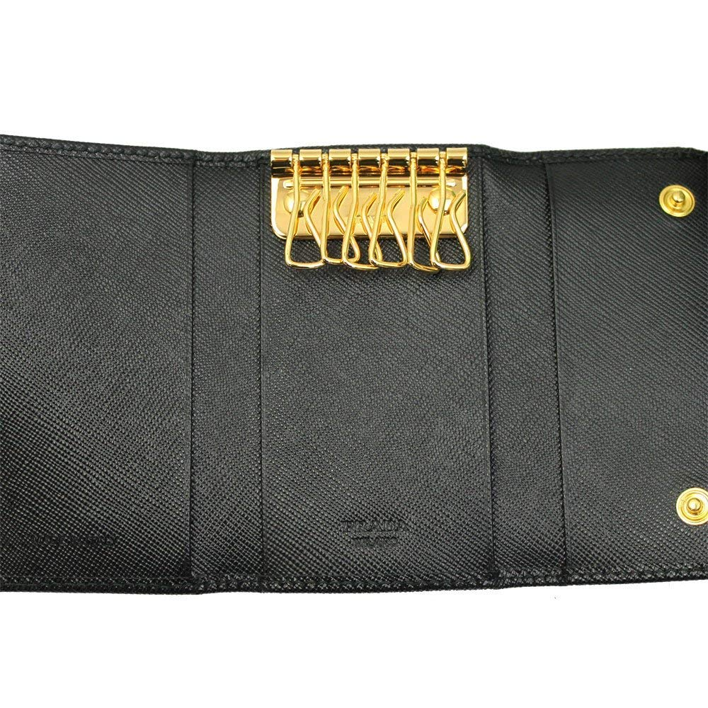 Prada Black Saffiano Leather Key Case 1PG222 Nero by Prada (Image #2)