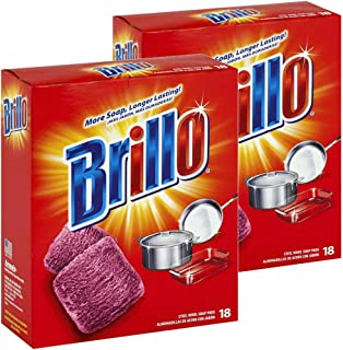 product image for Brillo Steel Wool Soap Pads Jumbo, Red, 18 Count (2 Pack)