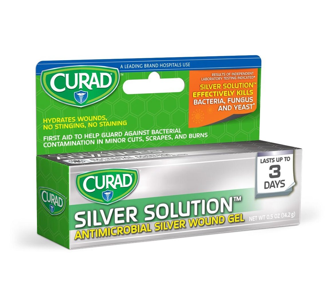 Curad Silver Solution Antimicrobial Silver Wound Gel, 0.5 oz Per Tube (12 Pack) by Curad