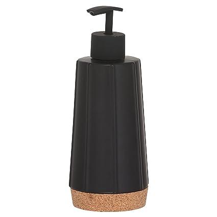 Sealskin Cork Dispensador de jabón, Porcelana, Negro, 7,1x7,1x20 cm
