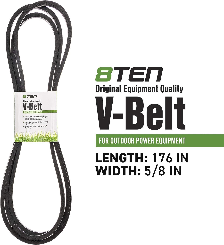 8TEN Deck Belt Ferris 5022061 Simplicity Ferris 5103391 Cobalt 61 Inch Deck