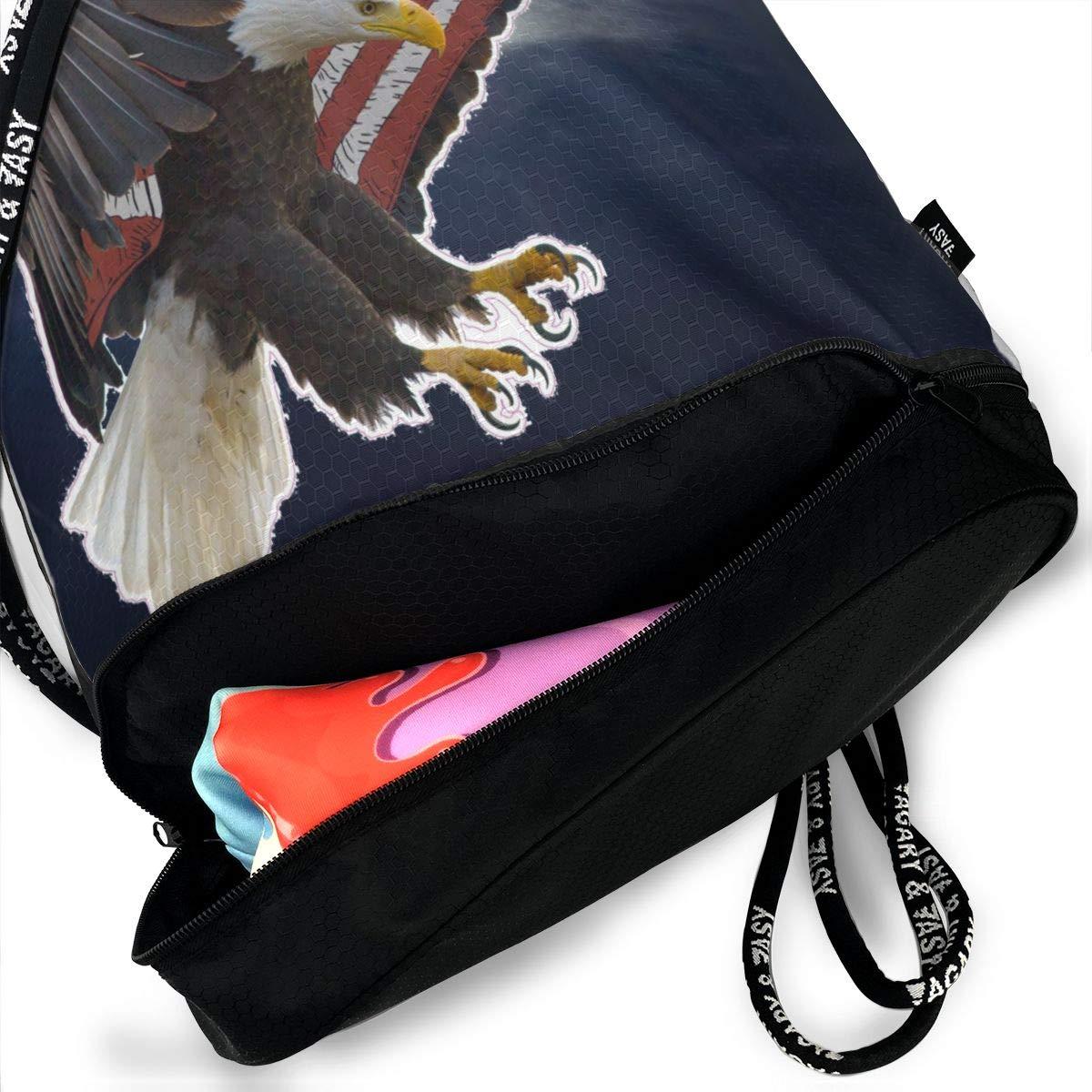 American Eagle Flag Multifunctional Bundle Backpack Shoulder Bag For Men And Women